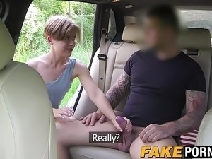 Short hair brunette babe Sasha riding and sucking cock