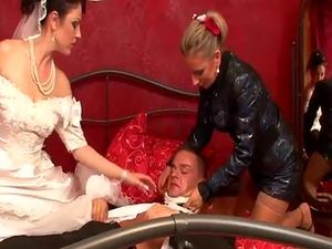 Peed over bride swaps cum