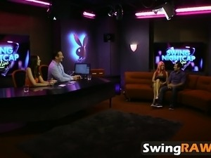 Swinger couples making orgy in crazy reality show