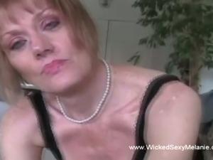 Cock Slut Housewife Devours Semen