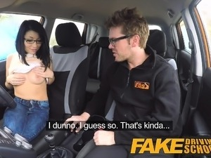 Fake Driving School wild ride for british Asian