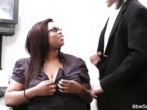 He caught cheating with plump ebony secretary