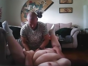 Chunky MILF Hookup with Bald Stranger