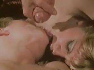 vintage retro big cock threesome lingerie facial cumshot