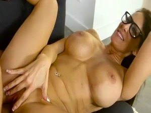 Huge tits Milf fucking big cock on couch