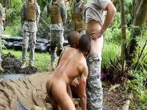 Army men fucking outside gay Jungle poke fest