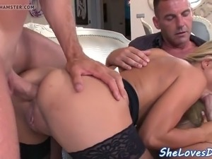 glam eurobabe do banged in closeup action