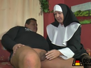 Mature nun sucking and fucking cock
