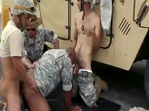 Soldier naked exam and homo gay sex video of  army first time