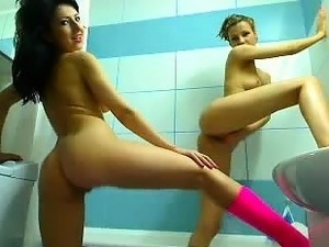 Shower time for lesbian friends