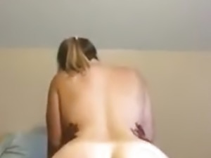 Chubby wife with a fat ass fucks a BBC hard