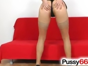 Pussy spreading with Czech Lucy Bell