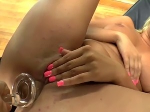 close up anal toying action with curvy amateur cowgirl