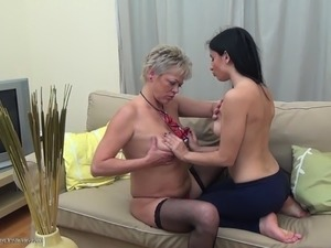 Matured lesbian asshole licked lovely while she moans