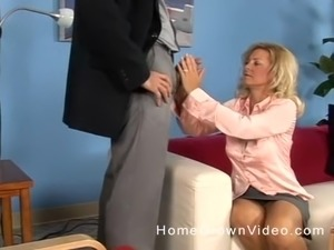 Katie is a mature housewife who cannot resist a big dick