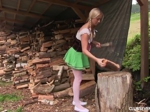 Karol Lilien is a blonde country girl in need of an orgasm