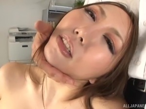 Dick craving Japanese chick sucks on a boner and rides it