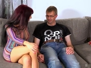 Natalie gets her clit licked before spreading her legs for some genuine...