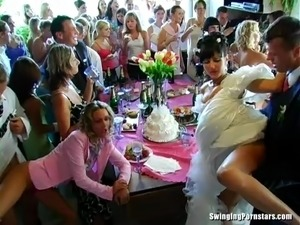 Lewd bridesmaids turn a wedding after party into an orgy