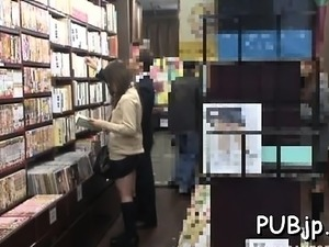 Japanese babe gets team-fucked by a guy in a public place