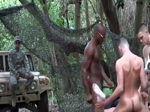 Gay soldier jerk off movie A crazy instructing day completes with