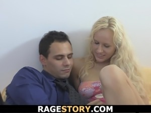 Blonde takes rough anal punishment for cheating