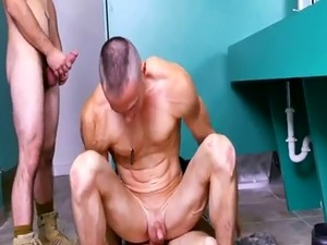 Young army gay man penis and black military men masturbate Our Drill
