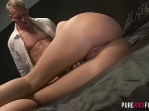 hot hungarian girl april blue gets satisfied by a dude with six packs