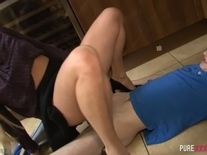 Brittany Bardot is a hot blonde cowgirl who keeps on riding fat cock