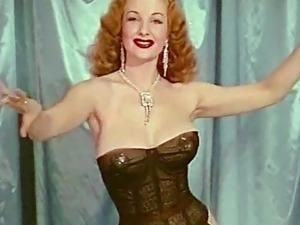 QUEEN OF TEASE - vintage big boobs burlesque tease