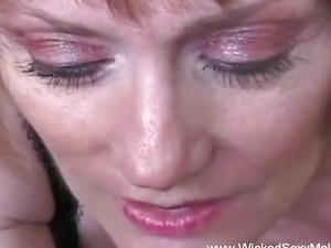 Slutty Grandmother Horny At Home