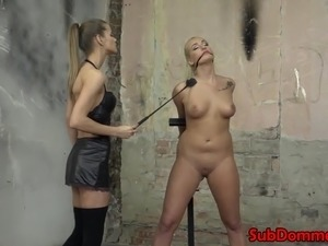 Lesbian domination babe toys blonde subs pussy