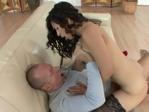 Sexually charged Latina Nicole Ferrera wants to fuck this old fart senseless