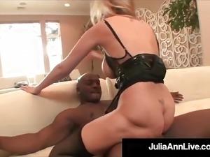 Mega Milf Julia Ann Does Interracial Monster Facial & Anal!