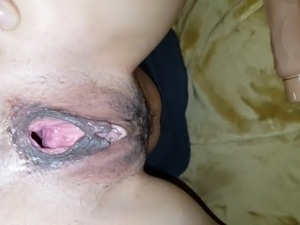 Her gaping ass and pussy after DP