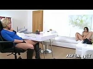 Hot female agent craves some fuck
