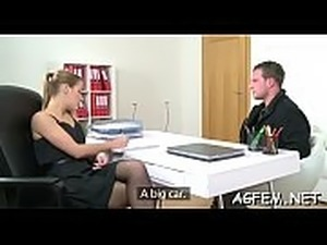 Indecent fantasies of a sexy female agent