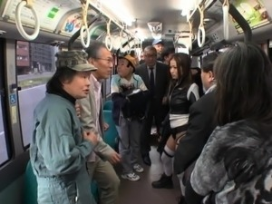 Stacked Japanese beauty gets treated like a slut in public