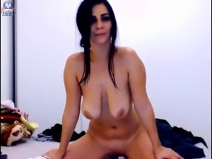 brunette milf with great boobs