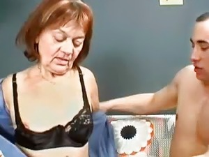 Hairy Granny Gets Her Pussy Filled With Young Dick