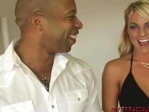 Blondes banged in interracial big black cock party