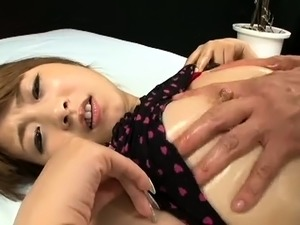 Bodacious Asian maid in uniform knows her way around a cock