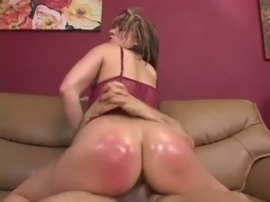 Ardent MILF with huge oiled butt Tyla Wynn insatiably rides fat dick