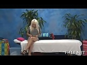 Hot 18 year old beauty gets fucked hard doggystyle by her massage therapist