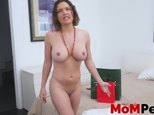 Krissy Lynn loves giving a titfuck and blowjob to stepson