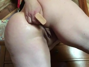 Fingers in her ass
