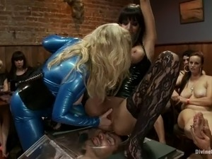 Craziest Reverse Gangbang with Humiliated Tortured Dominated Guy