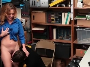 Huge titted blonde riding hard for being naughty
