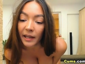 Sexy Tanned Skinned Chick Rides a Big Toy
