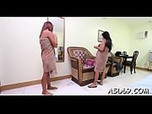 Thai angel likes to get caressed before getting impaled on cock